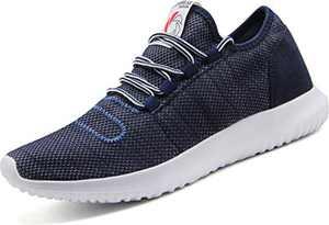 CAMVAVSR Men's Sneakers Fashion Slip on Lightweight Breathable Mesh Soft Sole Walking Running Jogging Shoes for Men Blue Size 12