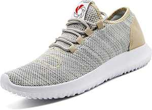 CAMVAVSR Men's Athletic Shoes Fashion Lightweight Breathable Mesh Soft Sole Easy Wear Running Sneakers for Men Gold Size 10 Barefoot Cross Shoes Bike Bicycle Shoe Flat Shoes