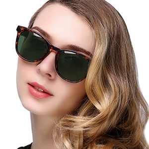 KANASTAL Sleek Polarized Sunglasses for Women Men, Classic Lightweight Comfortable Ladies Eyeglasses (Leopard Frame Brown Lens)