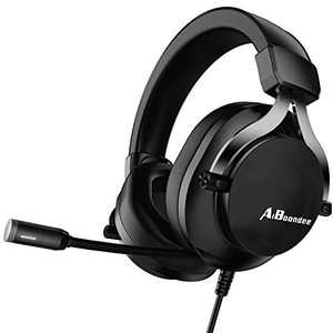 Xbox One Headset with Mic LED Light On Ear Gaming Headphone PS4,3.5mm Wired Gaming Headset for PC Mac Laptop Nintendo Switch Gamer Headphone (Black)