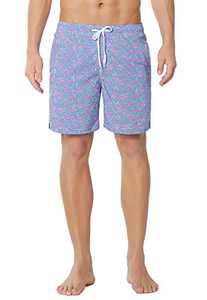 Meegsking Men's Swim Trunks Quick Dry Beach Board Shorts Bathing Suits with Mesh Lining