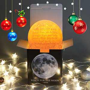 Personalized 3D Moon Lamp Gifts for Teenage Boys,Engraved Quotes Cool Funny Gamer Gifts for Best Son in Law from Parents,Special Gifts to Teen Boys Mens Kids
