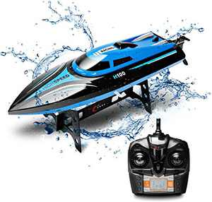 KINGBOT DeXop Remote Control Boat Rc Boat with High Speed Radio Remote Control Electric Racing Boat for Children, Adults (H100)