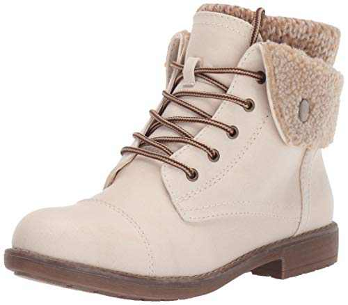 Cliffs by White Mountain Women's Duena Hiking Style Boot, Winter White, 8.5 M