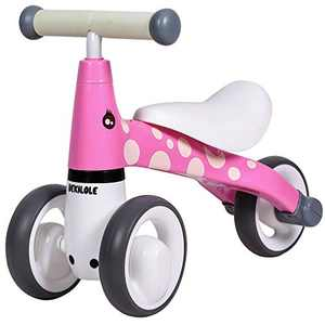 Baby Balance Bike 10 24 Months | Fun Animal Themes | 1 Year Old Girl Gifts | Ideal First Birthday (Pink)
