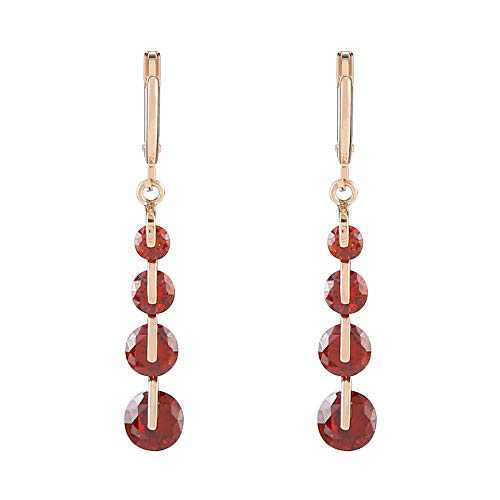 Metme Crystal Inspired Rhinestone Multicolor Dangle Drop Earrings Bridal Jewelry for Women Valentine's Gift