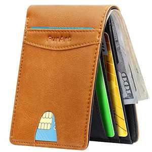 Slim Minimalist Bifold Wallet, FurArt Leather Front Pocket Wallet for Men & Women, RFID Blocking