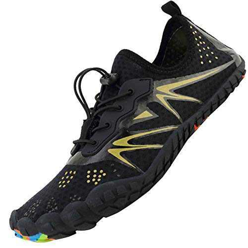Mens Women Water Sport Shoes Barefoot Quick-Dry Aqua Socks for Beach Swim Surf Yoga Exercise, 12.5 M US Women / 11 M US Men