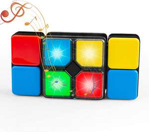 Gvoo Music Magic Cube, 4 Modes Intelligent Electronic Music Cube for Kids Christmas Birthday Gifts Educational Toys for Children