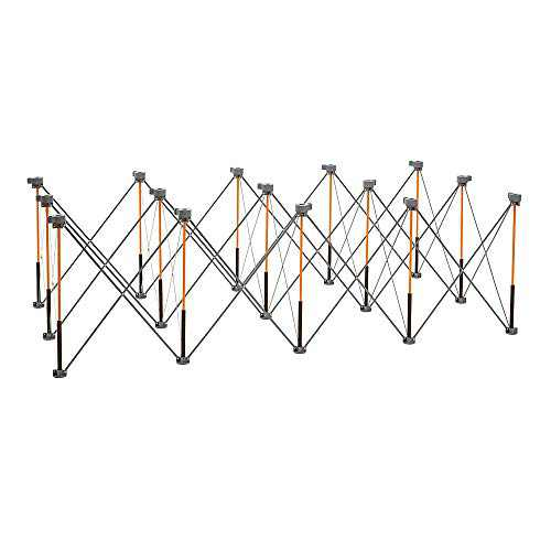 Bora Centipede 4x8 15-Strut Work Stand and Portable Table | XL Sawhorse Support with Folding, Collapsible Steel Legs, CK15S