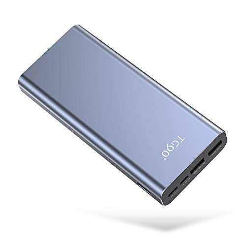 Cell Phone Battery Charger Portable TG90 25000mAh External Phone Charger Battery Power Packs, High Capacity Power Bank Portable Battery Charger Compatible for iPhone, iPad, Android Phones and More