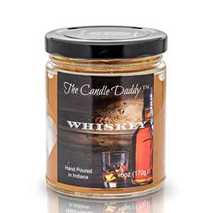 Whiskey (Bourbon) Scented Candle - 6 Ounce Jar Candle- Hand Poured in Indiana