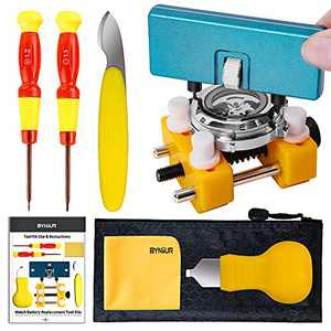 BYNIIUR Watch Battery Replacement Tool Kit, Watch Repair Kits, Watch Back Case Remover and Watch Opener