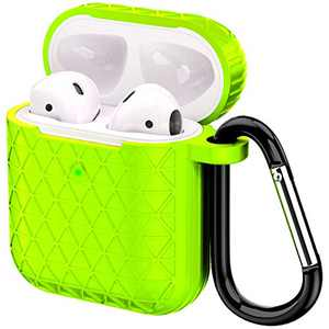 Airpods Case, Accessories Shockproof Case Cover Portable & Protective Silicone Skin Cover Case for Apple Airpods Charging Case (Green)