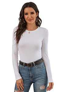 Long Sleeve T Shirt for Women Crewneck Under Scrub Comfort Tee
