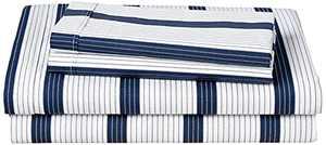 Lacoste Archive Sheet Set, King, Zen Blue