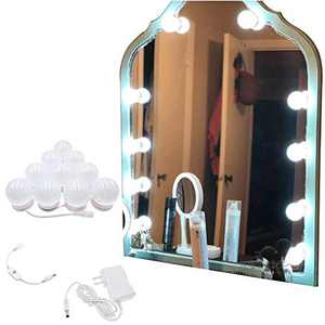 Hollywood Style LED Vanity Mirror Lights Kit with Connector,Touch Control 10 Dimmable Bulbs,Scalable Length 11.5 ft,Lighting Fixture for Makeup Vanity Table in Bathroom