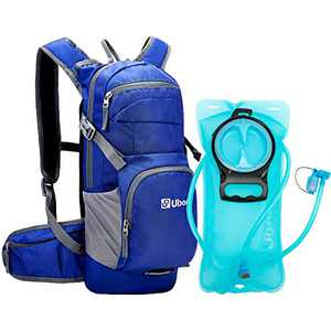 Ubon Running Water Pack Lightweight Hiking Backpack with Leakproof Reservior Dark Blue