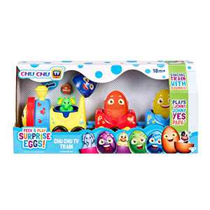 Peek & Play Surprise Eggs by Chuchu TV: Chu Train, Multicolor (75803)