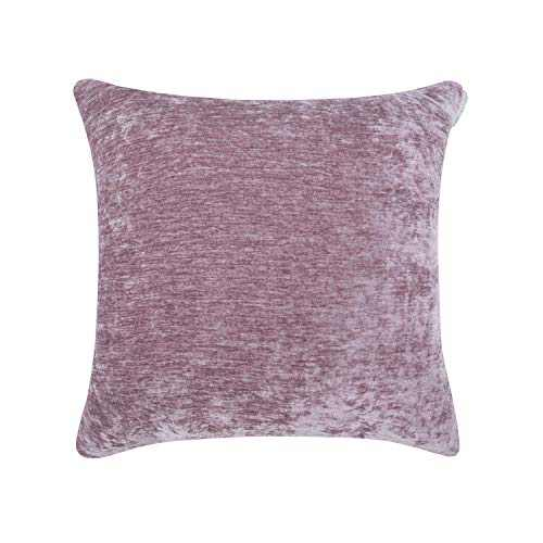 Hahadidi Cozy Decorative Throw Pillow Cover,No Pillow Insert,Farmhouse Square Pillowcase Luxury Velvet Cushion Case Covers for Car/Bed/Sofa/Couch,Gray Pink,20''x20''(50x50cm)