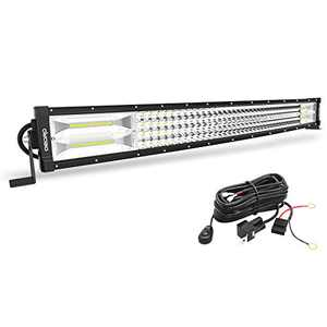 LED Light Bar Curved with Wiring Harness Quad-Row 31Inch 768W OEDRO Spot Flood Combo Led Lights Work Lights Fog Driving Light Off Road Light 12/24V Fit for Pickup Jeep SUV 4WD 4X4 ATV UTE TruckTractor