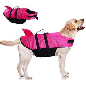 Large Dog Life Jacket ,Dogs Life Vests For Swimming Extra Large,Puppy Float Coat Swimsuits Flotation Device Life Preserver Belt Lifesaver Flotation Suit For Pet Bulldog Lab With Reflective Strap