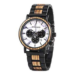 Men Watches Luxury Stainless Steel Wood Watches for Men Nice Gift Chioce for Your Special Person