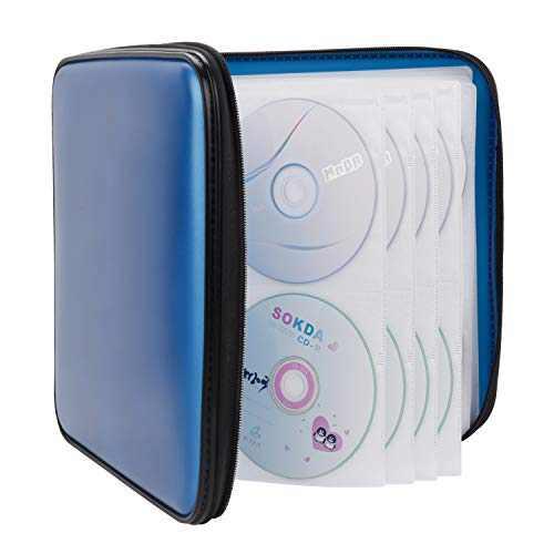 CD Case, COOFIT 160 Capacity DVD Case DVD Organizer CD Holder Case CD Storage Case Hard Plastic DVD CD Wallet