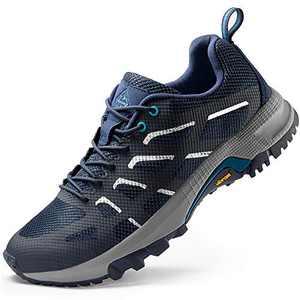 Wantdo Men's Trekking Shoes Lightweight Cross Trail Running Shoes Jogging Sneakers Navy 10 M US