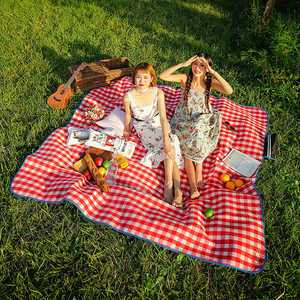 SKYSPER Picnic Blanket Large Outdoor Carpet Mat Waterproof Foldable Camping Tote Light Compact Oversized Rug 200x200cm