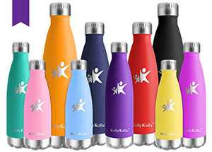 KollyKolla Vacuum Insulated Stainless Steel Water Bottle 12 Oz/17 Oz/22 Oz/ 25 Oz Double Walled Cola Shape Metal Reusable Water Bottle Kids Thermos Keep Drinks Hot and Cold for Sports Travel Outdoor