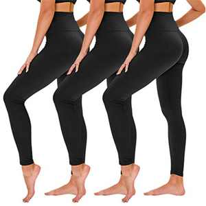 TNNZEET 3 Pack High Waisted Leggings for Women - Buttery Soft Workout Running Yoga Pants