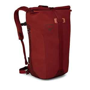 Osprey Packs Transporter Roll Top Laptop Backpack, Ruffian Red