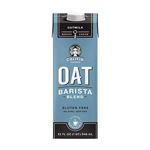 Califia Farms - Oat Milk, Unsweetened Barista Blend, 32 Oz (Pack of 6) | Shelf Stable | Non Dairy Milk | Creamer | Vegan | Plant Based | Gluten-Free | Non-GMO