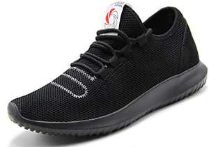 CAMVAVSR Men's Walking Shoes Fashion Slip on Lightweight Breathable Mesh Soft Sole Outdoor Shoes for Men Black Size 9.5