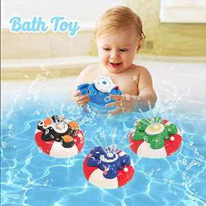 Happytime Spray Water Baby Bath Toy Water Pump Electronic Spray Toy Float Rotate with Fountain Floating Bathtub Shower Bathroom Toy for Baby Toddler Infant Kid (Sea Turtle)…