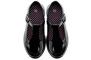 JABASIC Girls Mary Jane T-Strap School Uniform Flats Shoes (7,Black-3)
