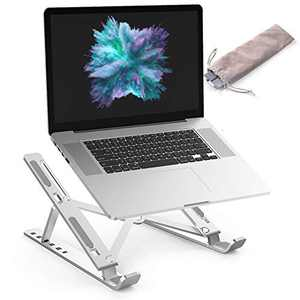 Laptop Stand ALIWIKI Ventilated Adjustable Laptop Stand Laptop Riser Aluminum Cooling Portable Laptop Stand and Suitable for All Tablets (Silver)