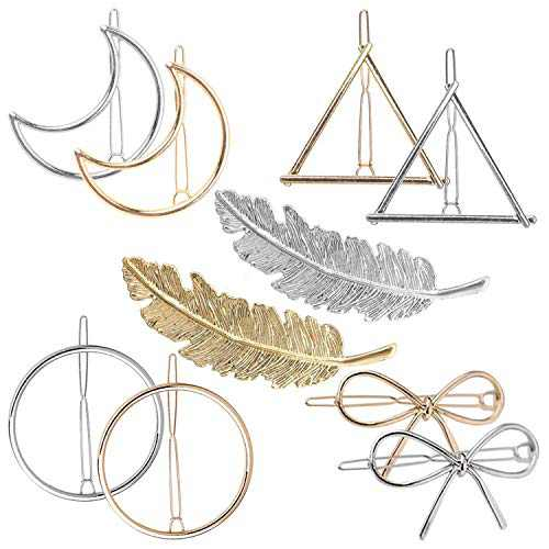 Hair Clip for Women Metal Hair Clips Leaf Butterfly Hollow Round Triangle Moon hollow Horsetail Barrette Pin Clip Minimalist Personality Hair Accessories