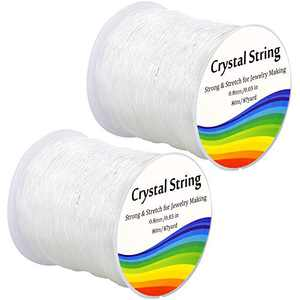 0.8mm Crystal Elastic String for Bracelets, Stretchy Bracelet String Clear Bead Cord for Beading, Jewelry Making (160m)