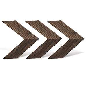 Rustic Wall Decor Arrow Sign,Farmhouse Decor,Home Decor Sign for Bathroom Bedroom Living Room Kitchen Office and More (3, Brown)