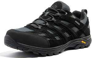 Wantdo Men's Hiking Shoe Breathable Non-Slip Sneakers Lightweight Low Top for Outdoor Trailing Trekking Walking 11 M US Black