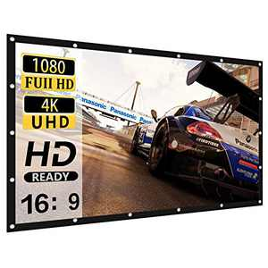 Projector Screen 120 inch 16:9 HD 4K Movies Screen Highbrightness Portable Widescreen Foldable Anti-Crease Indoor Outdoor Projector Movies Screen for Home Theater Match Party