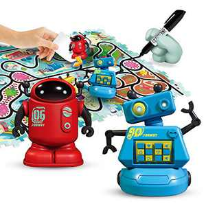 REMOKING Magic Inductive Robot Toys,Creative Track Puzzle Race Game,Learning and Educational Toys for Boys & Girls 3 Years and Up,Party and Birthday Gifts