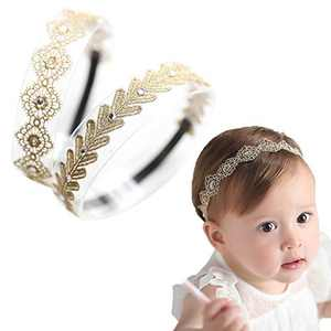 Baby Toddler Elastic Chiffon Flower Headbands Princess Girls Hand Sewing Beads Flower Headwear Nylon (MQ319)