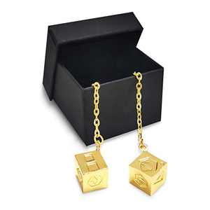 CASTELBELBO Han's Solo Dice Lucky Charm Golden Dice Pendant for Hansolo Cosplay Costumes Replica Accessories.Han Solo and Qira ¡­…(Bigger and High Hardness)