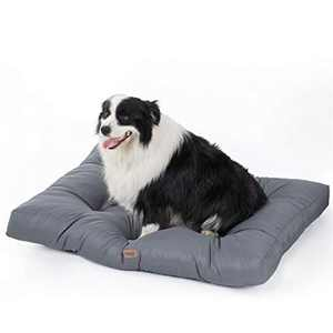 BEDSURE Waterproof Dog Bed Large - Washable Dog Pillow Mattress With Water Resistant Oxford Fabric for Dog Crate, Grey Cooling Mat, 91x68x10cm