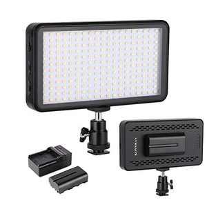 LED Video Light KONNWAN 228 for Digital DSLR Camera, Camcorder, High Brightness Lumen Value,6000k Dimmable Switch with Color Filter Gel, led Vedio Lighting kit Included led Battery Charger stents
