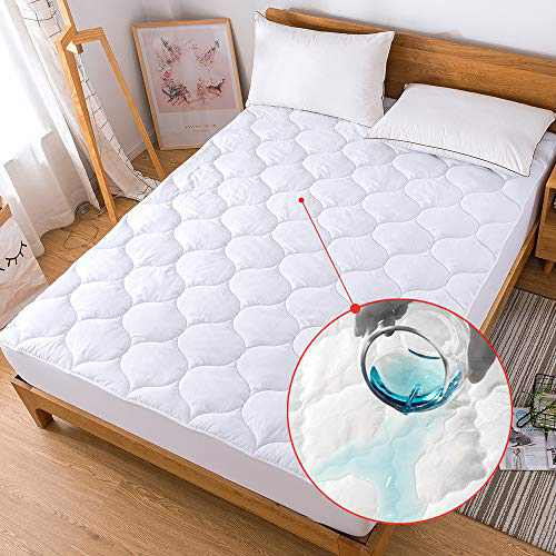 Decroom Waterproof Mattress Pad Breathable Quilted Fitted Sheet Mattress Protector Cover, Twin