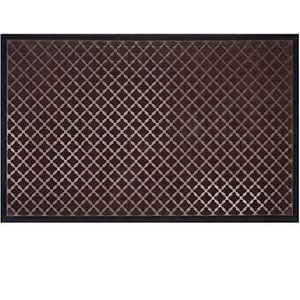 """Mibao Low Profile Shoe Scraper Doormat Indoor Outdoor Floor Mat Entrance Rug for Front Door 36"""" x 60"""", Coffee"""